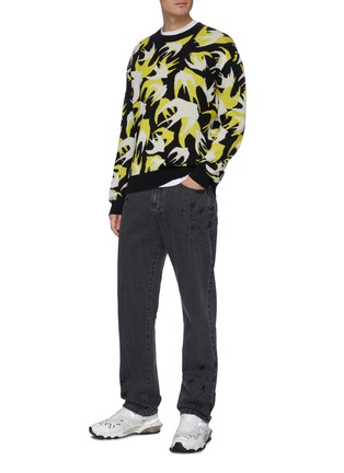 Figure View - Click To Enlarge - MCQ ALEXANDER MCQUEEN - Swallow embroidered knit top