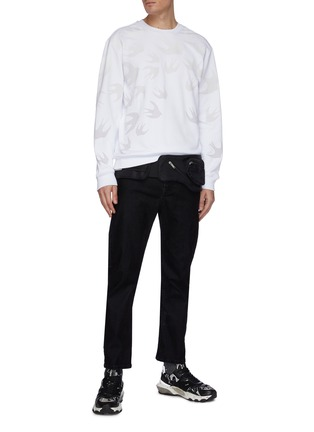 Figure View - Click To Enlarge - MCQ ALEXANDER MCQUEEN - 'Flock Patina' jeans