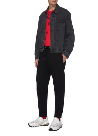 Figure View - Click To Enlarge - MCQ ALEXANDER MCQUEEN - Ribbed sweatpants