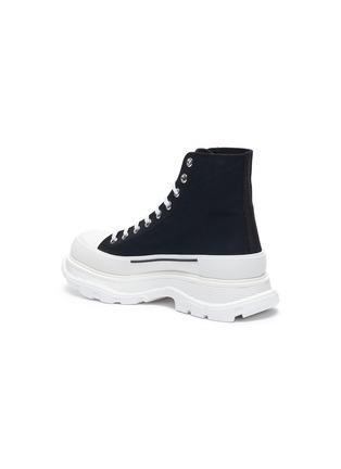 - ALEXANDER MCQUEEN - 'Tread' contrast sole canvas high top sneakers