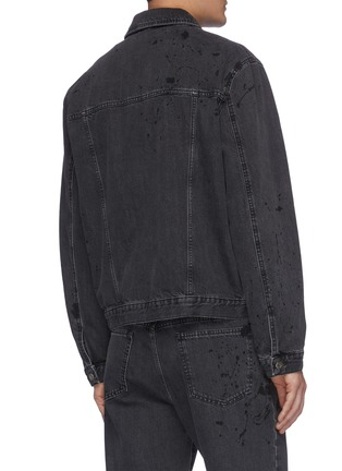 Back View - Click To Enlarge - MCQ ALEXANDER MCQUEEN - Pleated denim jacket