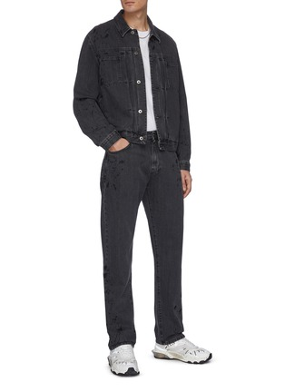 Figure View - Click To Enlarge - MCQ ALEXANDER MCQUEEN - Pleated denim jacket