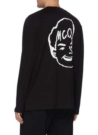 Back View - Click To Enlarge - MCQ ALEXANDER MCQUEEN - Face print long sleeve T-shirt