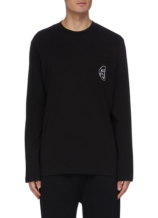 Main View - Click To Enlarge - MCQ ALEXANDER MCQUEEN - Face print long sleeve T-shirt