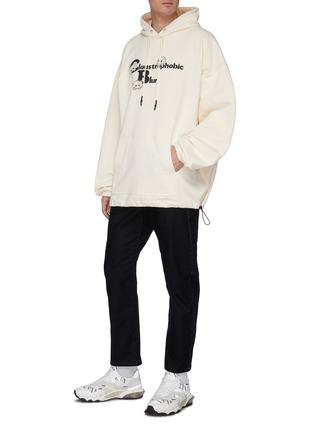 Figure View - Click To Enlarge - MCQ ALEXANDER MCQUEEN - Monster print hoodie
