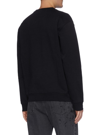 Back View - Click To Enlarge - MCQ ALEXANDER MCQUEEN - Slogan print sweater