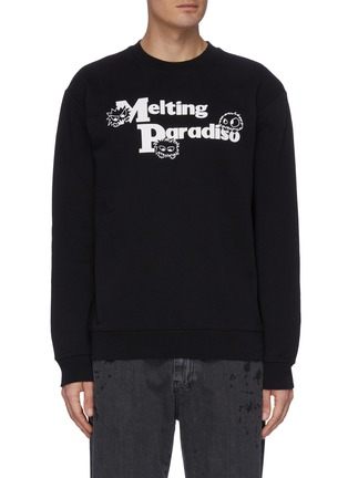 Main View - Click To Enlarge - MCQ SWALLOW - Slogan print sweater