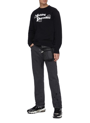 Figure View - Click To Enlarge - MCQ ALEXANDER MCQUEEN - Slogan print sweater