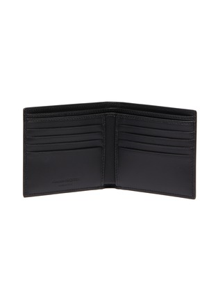 Figure View - Click To Enlarge - ALEXANDER MCQUEEN - 'Graffiti' logo print leather  bifold wallet