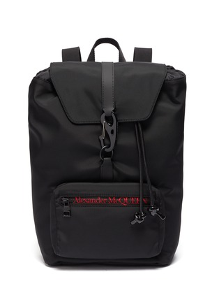 Main View - Click To Enlarge - ALEXANDER MCQUEEN - 'Urban' logo embroidered nylon backpack