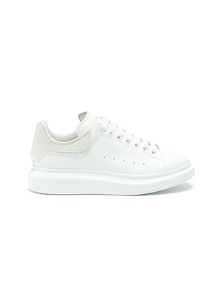Main View - Click To Enlarge - ALEXANDER MCQUEEN - 'Larry' panel counter perforated leather sneakers