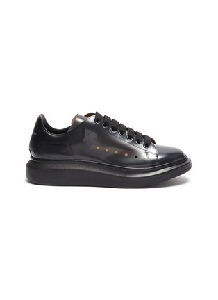 Main View - Click To Enlarge - ALEXANDER MCQUEEN - 'Larry' transparent wedge perforated PVC sneakers