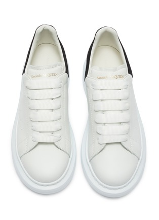 Figure View - Click To Enlarge - ALEXANDER MCQUEEN - Lace up chunky outsole kids sneakers