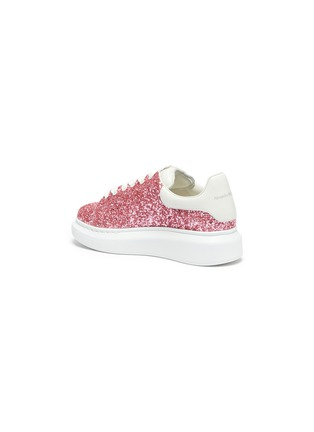 Detail View - Click To Enlarge - ALEXANDER MCQUEEN - Glitter leather kids sneakers