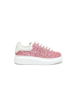 Main View - Click To Enlarge - ALEXANDER MCQUEEN - Glitter leather kids sneakers