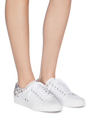 Figure View - Click To Enlarge - ASH - 'Dazed' stud calfskin leather sneakers