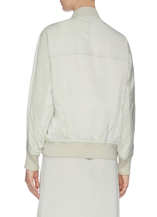 Back View - Click To Enlarge - VINCE - Rib knit trim bomber jacket