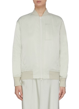 Main View - Click To Enlarge - VINCE - Rib knit trim bomber jacket