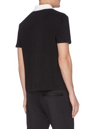 Back View - Click To Enlarge - JOSEPH - Bi-coloured Polo Top
