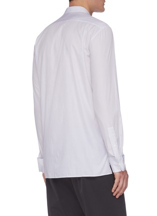 Back View - Click To Enlarge - JOSEPH - 'Arnie' pinstripe stand collar shirt