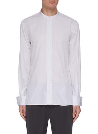 Main View - Click To Enlarge - JOSEPH - 'Arnie' pinstripe stand collar shirt