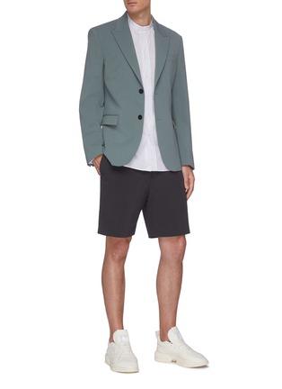Figure View - Click To Enlarge - JOSEPH - 'Arnie' pinstripe stand collar shirt