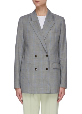 Main View - Click To Enlarge - EQUIL - Check print double breasted blazer