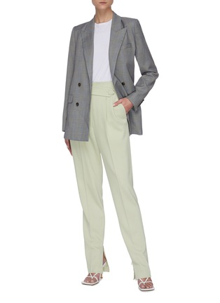 Figure View - Click To Enlarge - EQUIL - Check print double breasted blazer