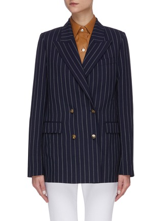 Main View - Click To Enlarge - EQUIL - Pinstripe double breasted blazer