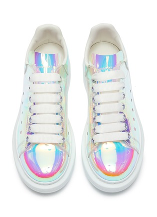 Detail View - Click To Enlarge - ALEXANDER MCQUEEN - Holographic transparent oversized sneakers