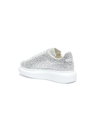 Detail View - Click To Enlarge - ALEXANDER MCQUEEN - 'Oversized sneakers' in strass
