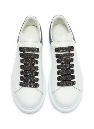 Detail View - Click To Enlarge - ALEXANDER MCQUEEN - 'Larry' holographic glitter oversized sneakers