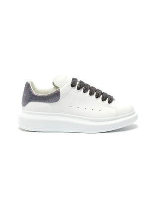 Main View - Click To Enlarge - ALEXANDER MCQUEEN - 'Larry' holographic glitter oversized sneakers