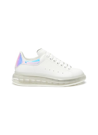 Main View - Click To Enlarge - ALEXANDER MCQUEEN - 'Oversized sneaker' in larry with holographic tab