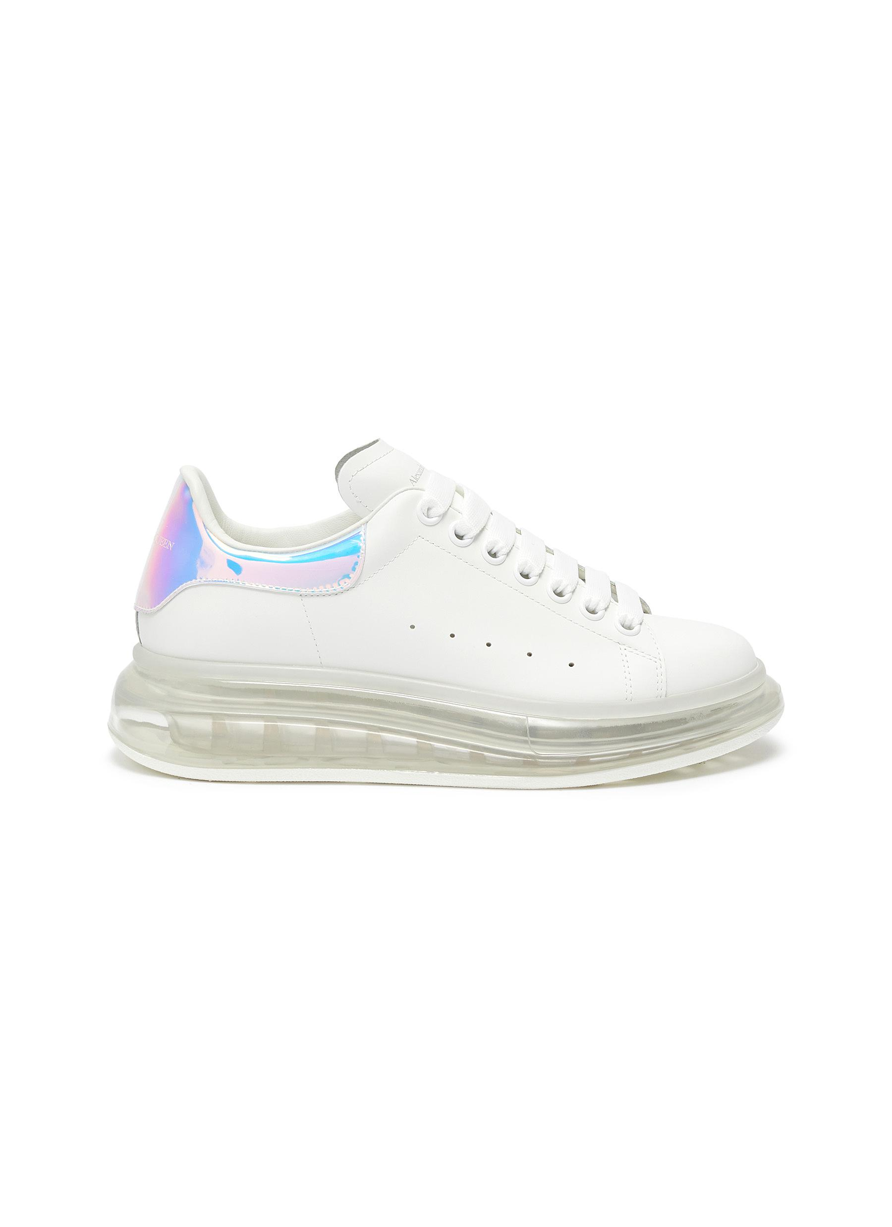 shop Alexander Mcqueen 'Oversized sneaker' in larry with holographic tab online