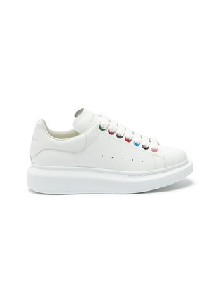 Main View - Click To Enlarge - ALEXANDER MCQUEEN - 'Larry' rainbow eyelet oversized sneakers