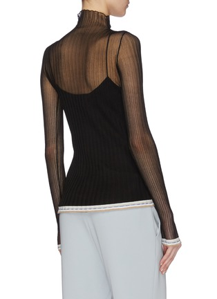 Back View - Click To Enlarge - EQUIL - Sheer turtleneck top