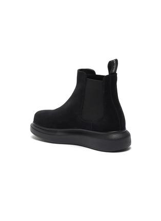 - ALEXANDER MCQUEEN - Oversized suede chelsea boots