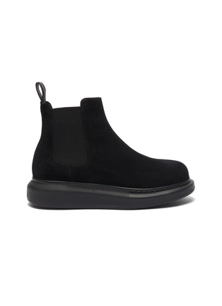 Main View - Click To Enlarge - ALEXANDER MCQUEEN - Oversized suede chelsea boots