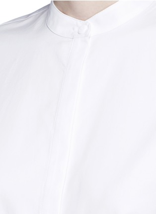 Detail View - Click To Enlarge - Tibi - Tie cuff poplin shirt tunic