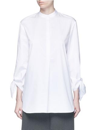 Main View - Click To Enlarge - Tibi - Tie cuff poplin shirt tunic