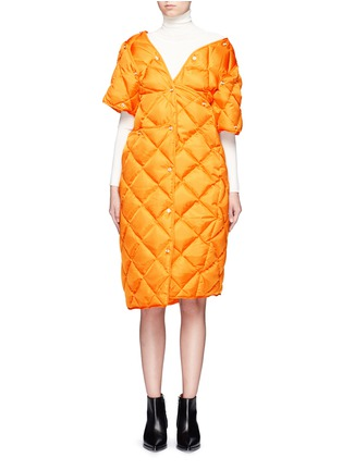 Main View - Click To Enlarge - ACNE STUDIOS - 'Baltimore Down' convertible quilted puffer coat