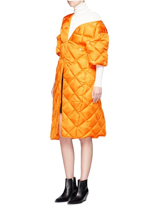Figure View - Click To Enlarge - ACNE STUDIOS - 'Baltimore Down' convertible quilted puffer coat