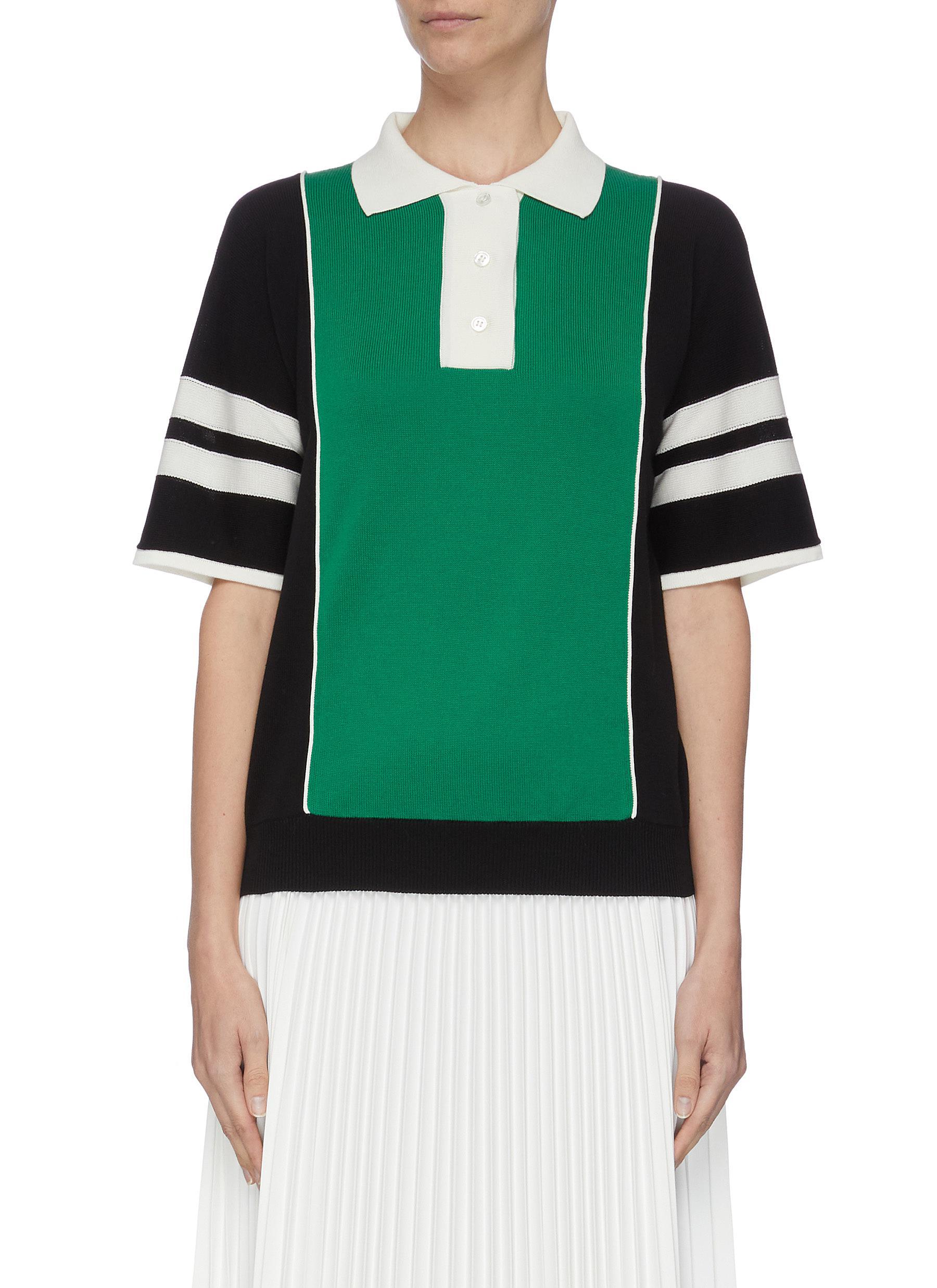 Buy Plan C Tops colourblock polo shirt