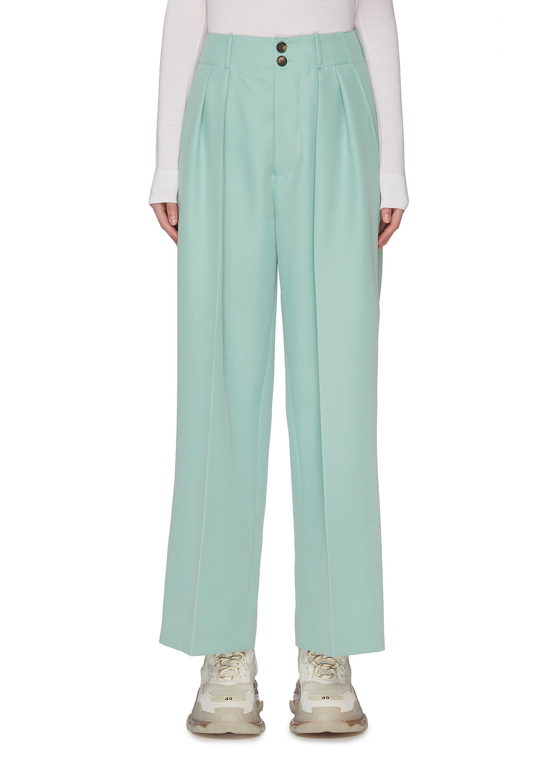shop Plan C Double dart wide leg suiting pants online
