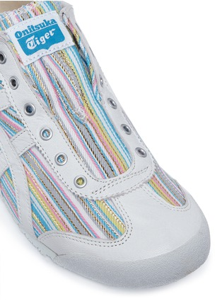 Detail View - Click To Enlarge - Onitsuka Tiger - 'Mexico 66' herringbone stripe slip-on sneakers
