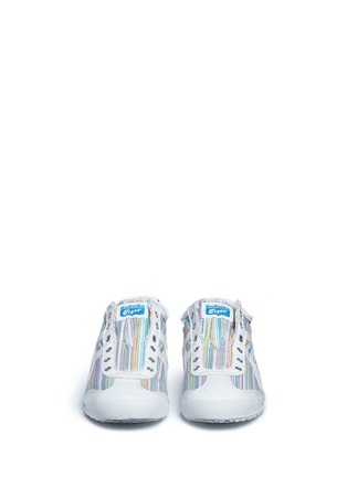 Front View - Click To Enlarge - Onitsuka Tiger - 'Mexico 66' herringbone stripe slip-on sneakers