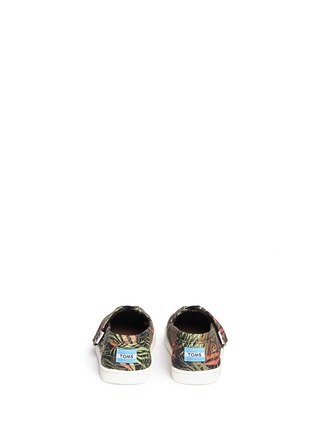 Back View - Click To Enlarge -  - Tiny Classic palm print canvas toddler slip-ons