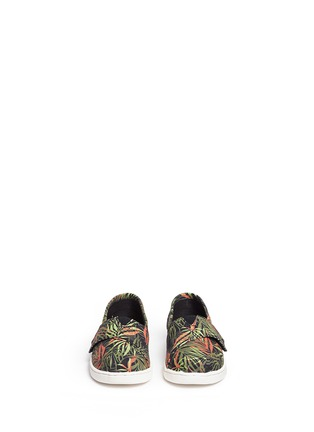 Figure View - Click To Enlarge -  - Tiny Classic palm print canvas toddler slip-ons