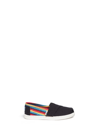 Main View - Click To Enlarge - 90175 - Tiny Classic raffia print canvas toddler slip-ons